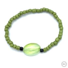 Rutielkwarts armband 17-18 cm geregen op elastiek