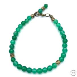 Agaat groen armband  23.5 cm