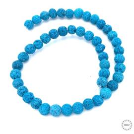 Lava kralen blauw 8 mm