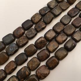 Bronziet rechthoeken 8 x 10 mm