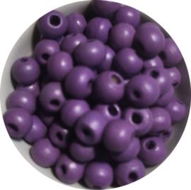 Houten kralen magenta 6 mm