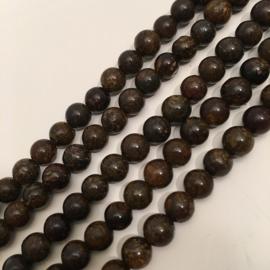 Bronziet kraal 6 mm rond
