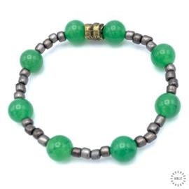 Aventurijn groen armband of enkelband 19 cm