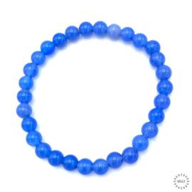 Agaat kralen blauw 6 mm