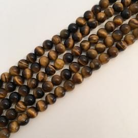 Tijgeroog kralen 6 mm