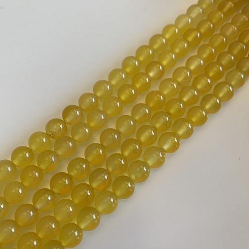 gele Agaat kralen 6 mm