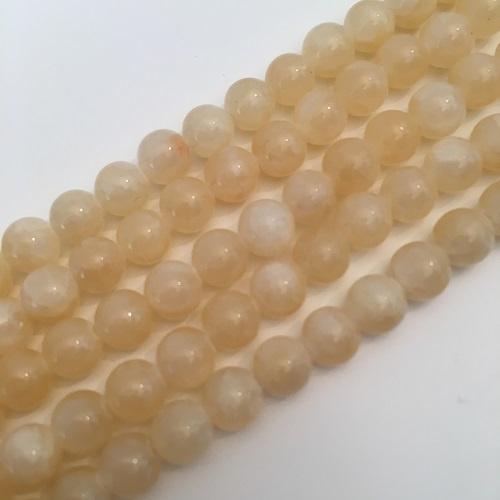 Jade geel kralen 6 mm rond