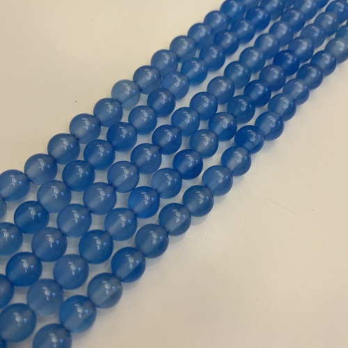 blauwe Agaat kralen 6 mm rond