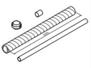 Vaillant Horzintaal verlengstuk (80/125) 1 m voor aroSTOR VWL B 150/5