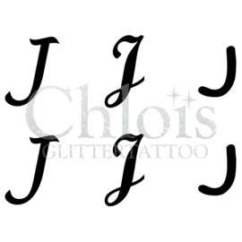 Letter J (Multi Stencil 6)