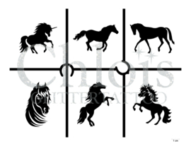 Horses (Theme Stencil)