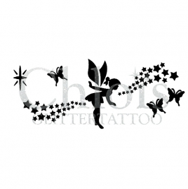 Fairy, butterflies and stars