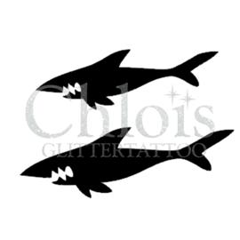 Shark Duo Stencil