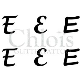 Letter E (Multi Stencil 6)