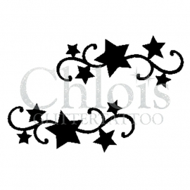Curly Stars (Duo Stencil)