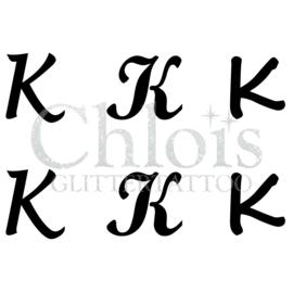 Letter K (Multi Stencil 6)
