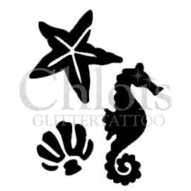 Seahorse, Sea star, Shell (Multi Stencil)