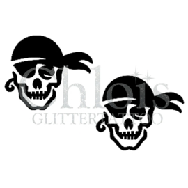 Pirate Skull (Duo Stencil)