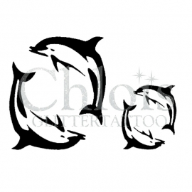 Two Dolphins (Duo Stencil)