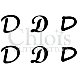 Letter D (Multi Stencil 6)