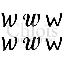 Letter W (Multi Stencil 6)