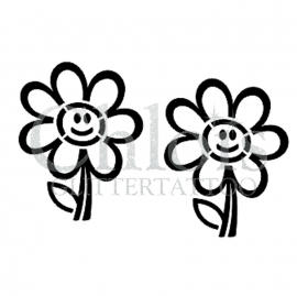 Happy Flower (Duo Stencil)