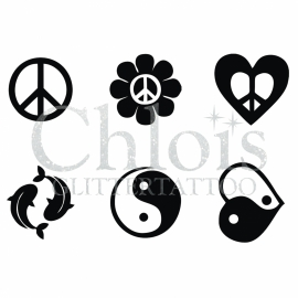 Peace and Ying Yang (Multi Stencil 6)