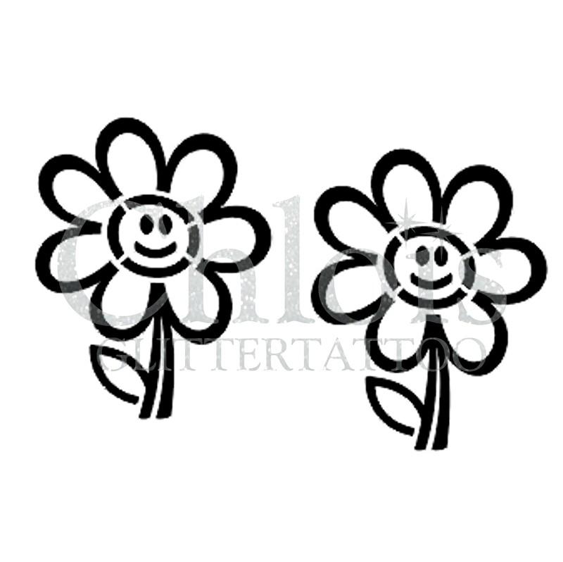 Stencils Flowers & Plants   Chloïs Glittertattoo