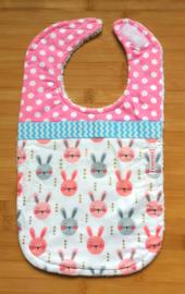 XL Slab konijntjes roze-grijs