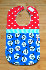 XL Slab panda op blauw