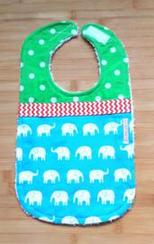 XL Slab olifantjes op blauw