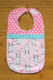XL Slab konijnen op roze