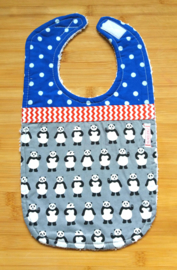 XL Slab panda's op grijs