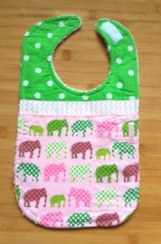 XL Slab olifanten groen roze