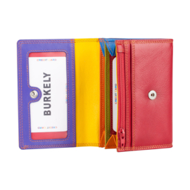 Lederen Burkely multi wallet v-model rood