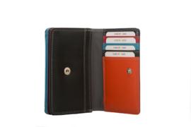 Lederen Burkely multi wallet Monica klein zwart