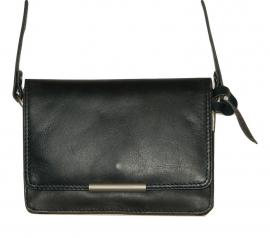 Lederen Luxe classic tas blauw klein