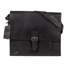Burkely Mick Messenger Bag - Zwart