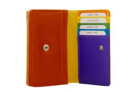 Lederen Burkely multi wallet Monica klein rood