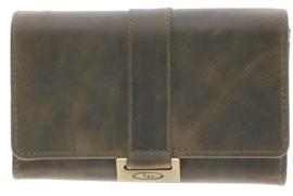 Lederen Groen portemonnee v-model