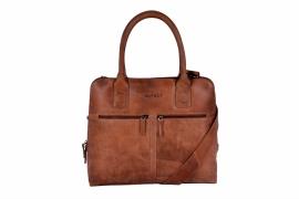 DSTRC werk laptop tas cognac 11.6 inch dames