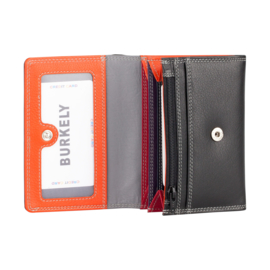 Lederen Burkely multi wallet v-model zwart