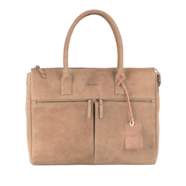 Burkely Valerie Laptop Bag - Taupe