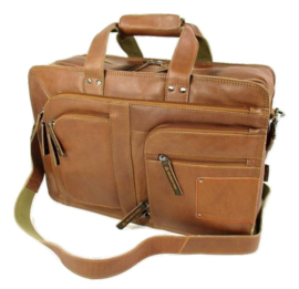 Laptoptas Backer 15,6 inch cognac