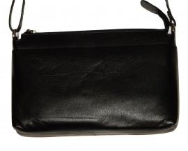 Lederen Luxe classic tas zwart 05