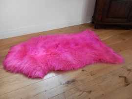 Lederen Schapenvacht roze