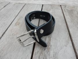 Lederen riem 2 cm zwart