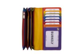 Lederen Burkely multi wallet Monica groot rood