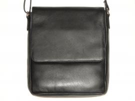 Lederen Luxe classic tas zwart 06