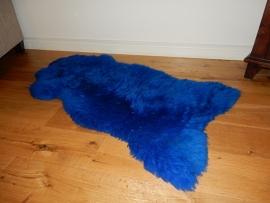 lederen schapenvacht blauw